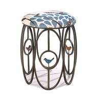 Free As A Bird Cushioned Metal Stool