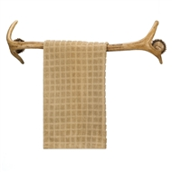 Faux Antler Towel Holder Rack