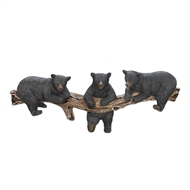Black Bears on Log Trio Hooks