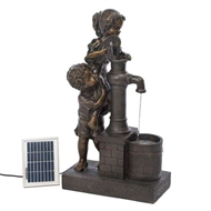 "Teamwork Water Pump Solar Water Fountain 28.75"" Tall"