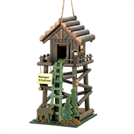 Ranger Station Brown Wood Birdhouse
