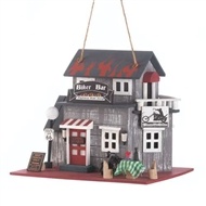 Route 66 Biker Bar Wood Birdhouse