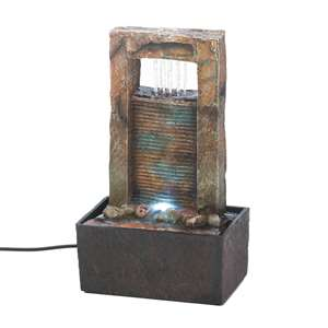 "Cascading Wall Tabletop Fountain 9.75"" Tall"