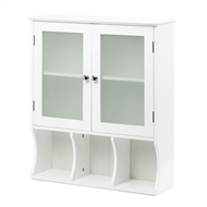 Aspen Wood Wall Cabinet w/Frosted Glass