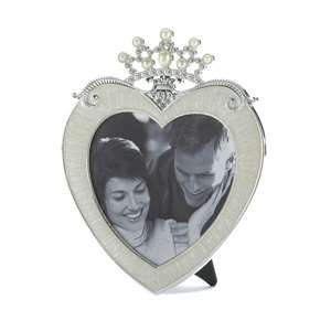 Crown Heart Shaped Photo Frame 5x5