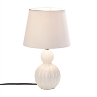 White/Ivory Charlotte Ceramic Table Lamp