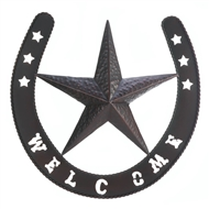 Lonestar Welcome Horseshoe Wall Decor