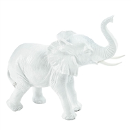 White Ceramic Elephant Figurine