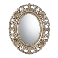 Gilded Oval Wood Wall Mirror