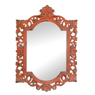 Majestic Coral Rectangular Wall Mirror