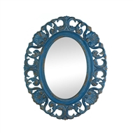 Vintage Belle Blue Oval Wall Mirror