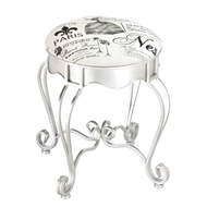 Pretty In Paris Parisian Metal Stool