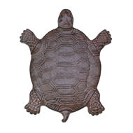 Turtle Cast Iron Stepping Stone Plaque