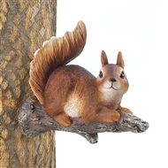 Lounging Squirrel Figurine Tree Decor