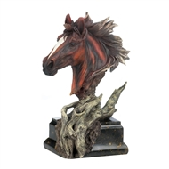 Spirited Stallion Driftwood Bust Sculpture