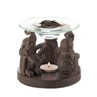 Elephant Trio Brown Fragrance Oil Warmer