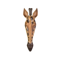 Wild Giraffe Face Wall Plaque