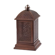Large Bronze Metal Peregrine Candle Lantern