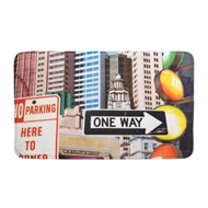 City Traffic Signs Memory Foam Entry/Kitchen/Bath Mat