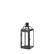 Midtown Small Black Candle Lantern