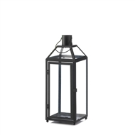 Midtown Medium Black Candle Lantern