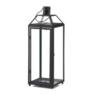 Midtown Large Black Candle Lantern