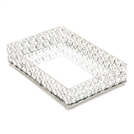 Shimmer Rectangular Jeweled Wire Framework Tray