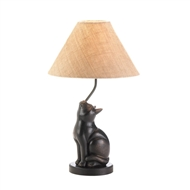 Curious Sitting Cat Table Lamp