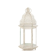 Sublime Distressed Large White Candle Lantern