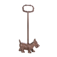Cast Iron Terrier Door Stopper w/Handle