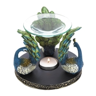 Peacock Plume Trio Fragrance Oil Warmer