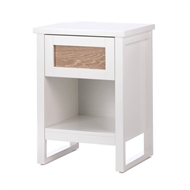 Perfect White Wood 1-Drawer Side Table