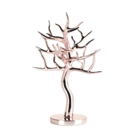 Rose Gold Finish Jewelry Tree Stand