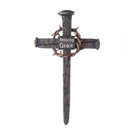 Amazing Grace Crown of Thorns Nail Cross