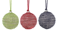 3-Piece Holiday Jute Ball Ornament Set
