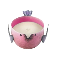 Pink Berry Sorbet Candle In Pink Metal Birdie