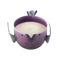 Pomegranate Candle In Purple Metal Birdie