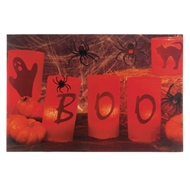 Halloween BOO LED Animated Wall Art