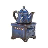 Blue Teapot Stove Fragrance Oil Warmer