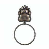 Brown Bear Paw Print Towel Ring