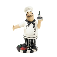 Italian Chef Tray Wine Bottle Holder