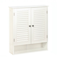 Nantucket White Wood Bathroom Cabinet