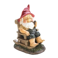 Rocking Chair Grandpa Garden Gnome