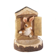 Bunny Wall Hanging Bird Seed Feeder