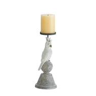 Slender Cockatoo Pillar Candle Holder