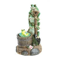 Rotating Lightup Frog Garden Decor Solar Statue