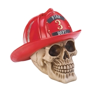Firefighter Skull Decor Fire Dept