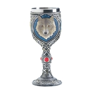 Timber Wolf Motif Decorative Goblet