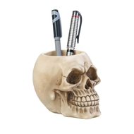 Skull Desk Pen Holder Cup
