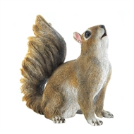 Bushy Tail Squirrel Statue Garden Decor